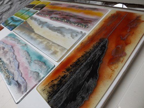 panels in the kiln