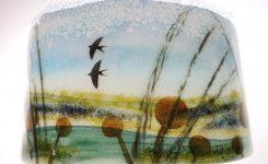 Swallows Over Teifi Marshes