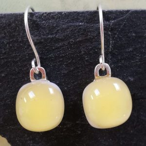 pale amber fused glass drops