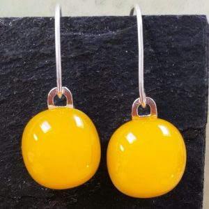 sunflower fused glass drops