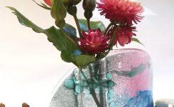 Pink Skies glass vase