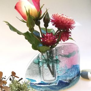 Pink Skies glass vase